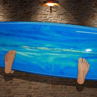 Wandhalter L (Surfbrett) Füße