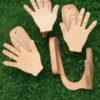 Wandhalter L (Surfbrett) Hände